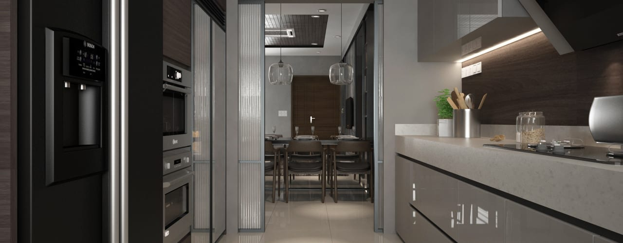 BANDAR MUTIARA :  Kitchen by Zeitlus Design