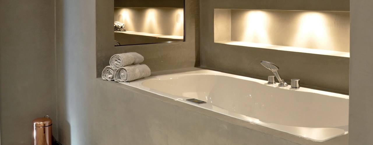 Zo voeg je die mooie betonlook toe aan je badkamer..