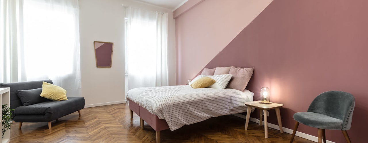 Casa MS.2: Camera da letto in stile  di Architrek, Moderno