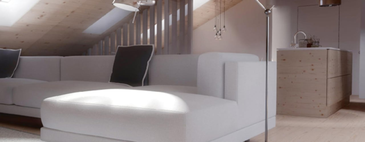 O sótão da família Oliveira: Salas de estar  por Homestories