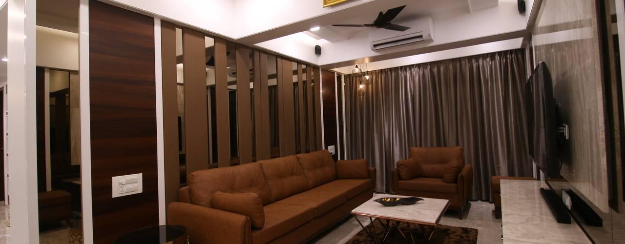 drwaing room:  Living room by Three Interiors