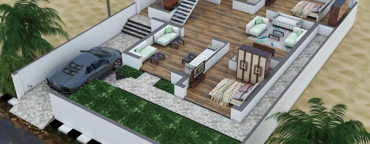 GROUND FLOOR PLAN 3D:   by ART JAIL