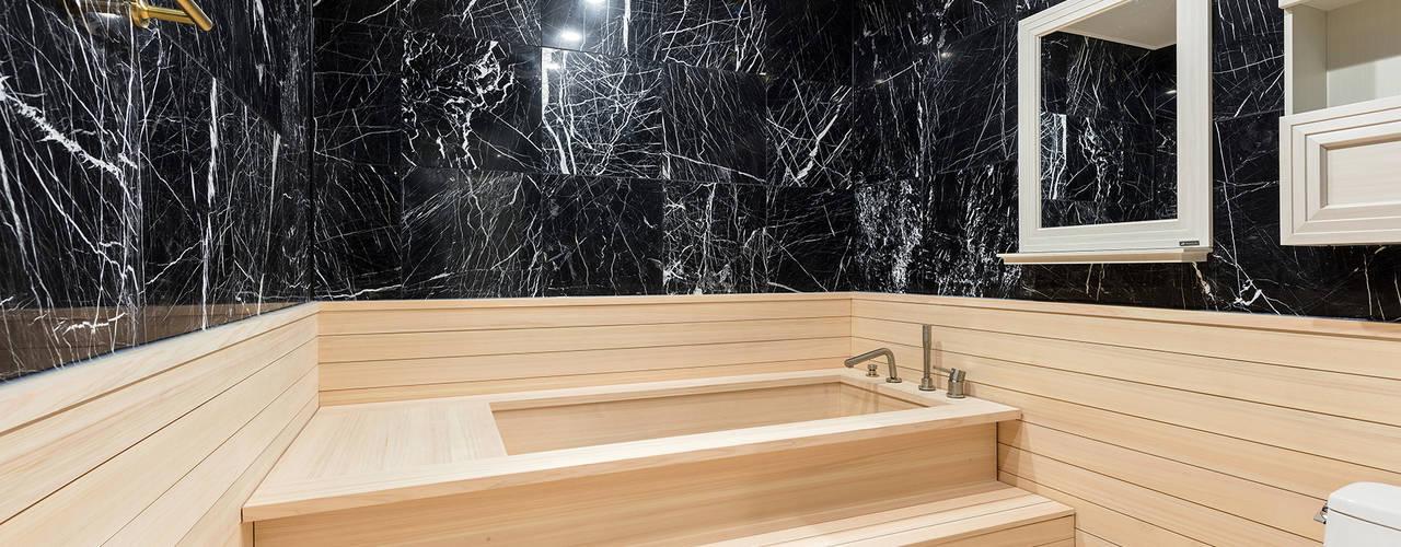 외국에 있는듯한 고급스러운 느낌 물씬~ 분당 까치마을 아파트인테리어. 모던스타일 욕실 by 디자인스퀘어 모던