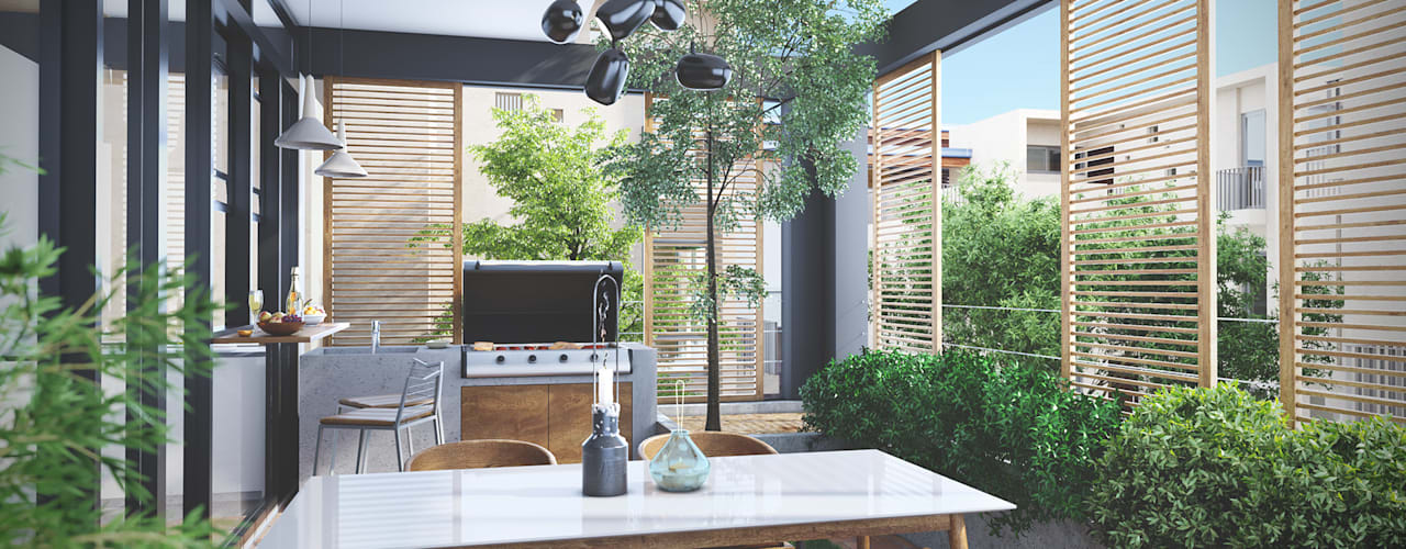 House 516 Scandinavian style balcony, veranda & terrace by Studio Gritt Scandinavian