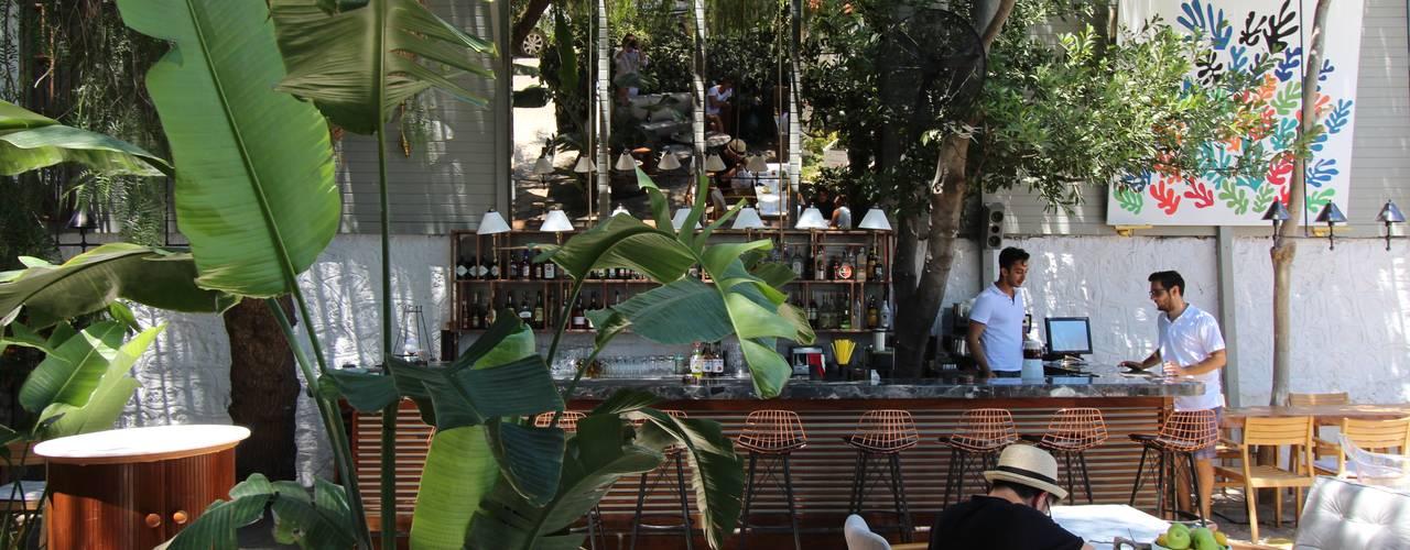 Open Air Bar Tropical style garden by Orkun İndere Interiors Tropical