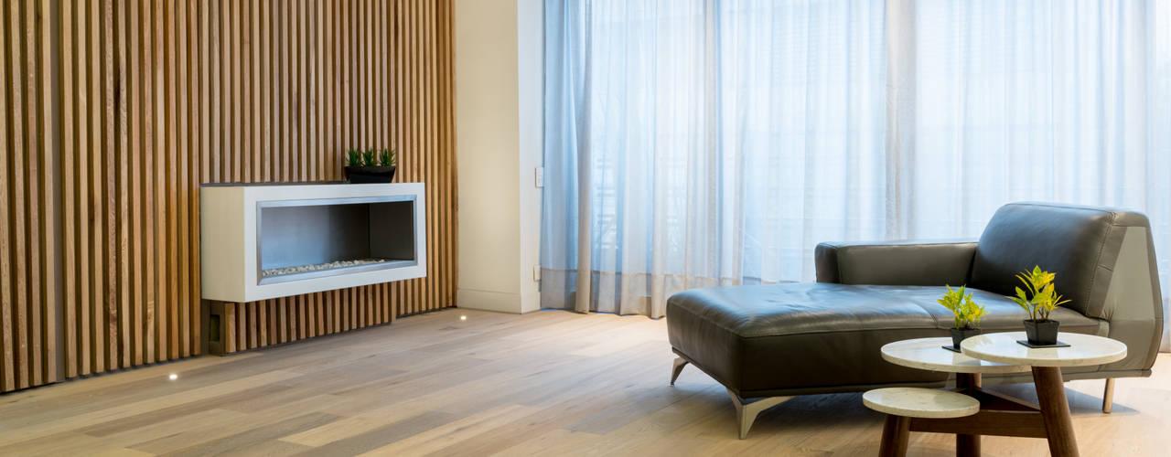 Salas con estilo Salas de estilo escandinavo de Pisos Millenium Escandinavo