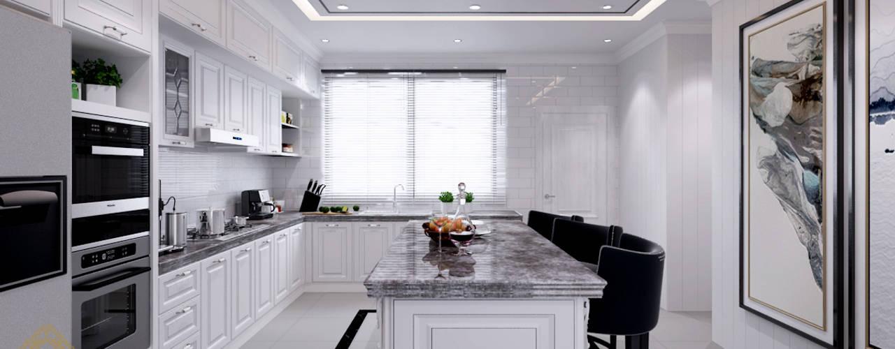 Semi-Detached Houses Design - Senibong Villa Johor,Malaysia Enrich Artlife & Interior Design Sdn Bhd Modern style kitchen