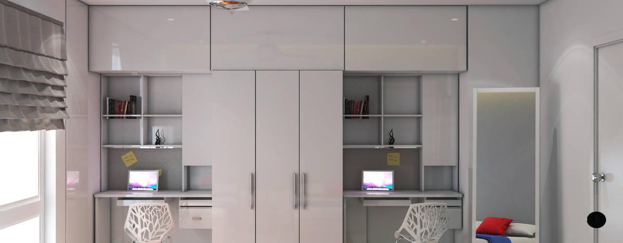Minimalistic interiors for residence Rhythm And Emphasis Design Studio Modern living room