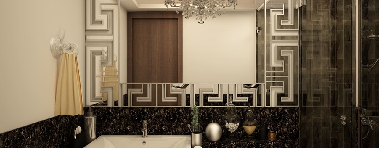 luxury contemporary interiors of the residence 2BHK Rhythm And Emphasis Design Studio Classic style bathroom