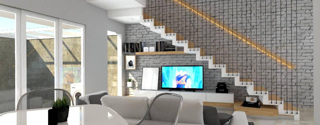 Ruang Keluarga, Dapur & Ruang Makan:  Ruang Keluarga by CASA.ID ARCHITECTS