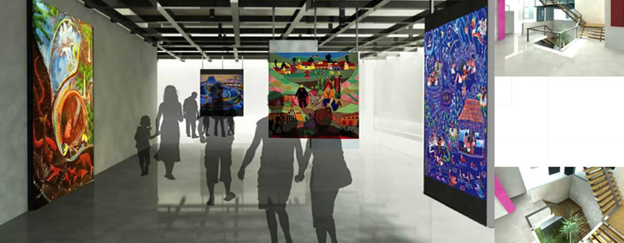 PROYECTOS NATIVA: Centros de exhibición de estilo  por NATIVAARQUITECTOS E.I.R.L, Colonial