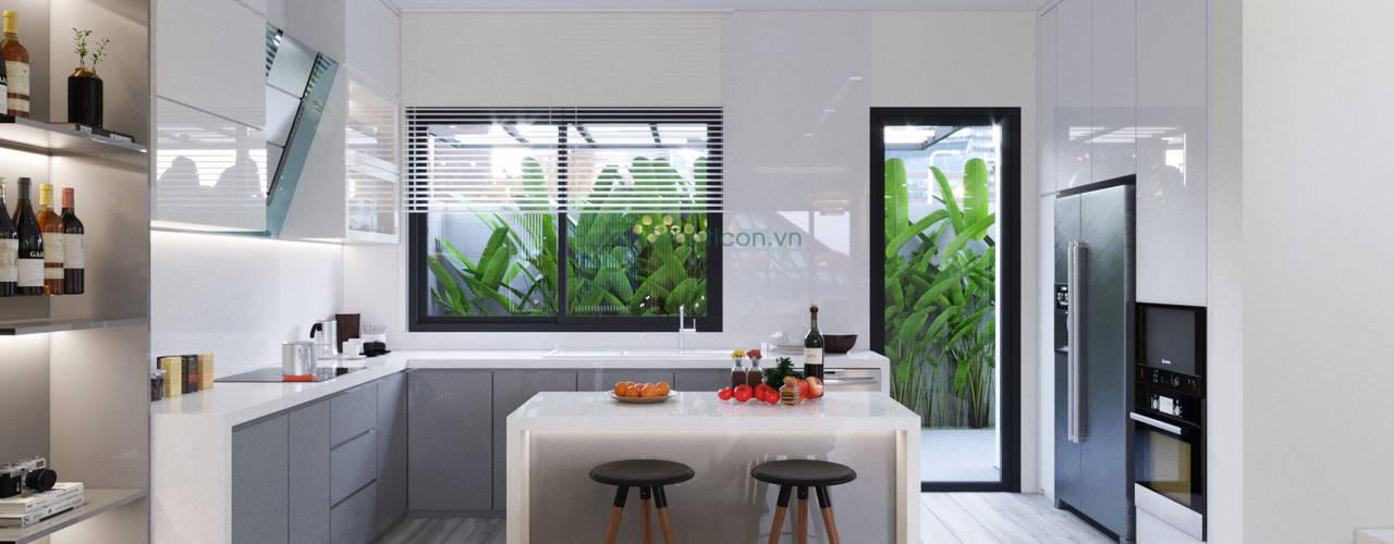 Thiết kế nội thất biệt thự Nine South - Tinh tế đến từng chi tiết nhỏ!:  Nhà bếp by ICON INTERIOR