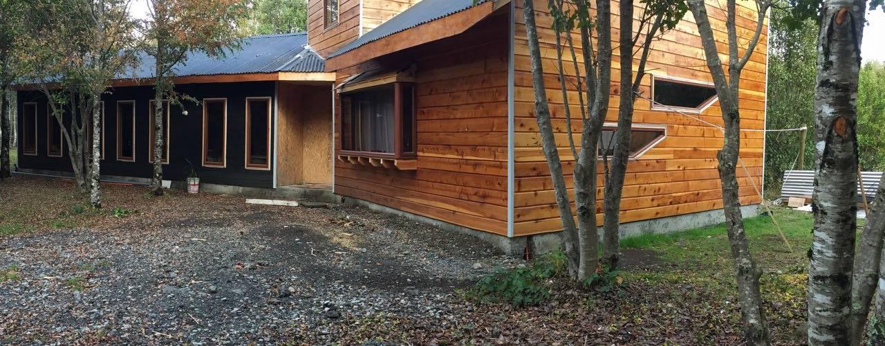 Constructora Rukalihuen Villas Wood Wood effect