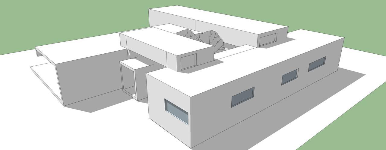 Proyecto Casa (Moderna o Mediterránea) 150m2 de Constructora Rukalihuen Moderno