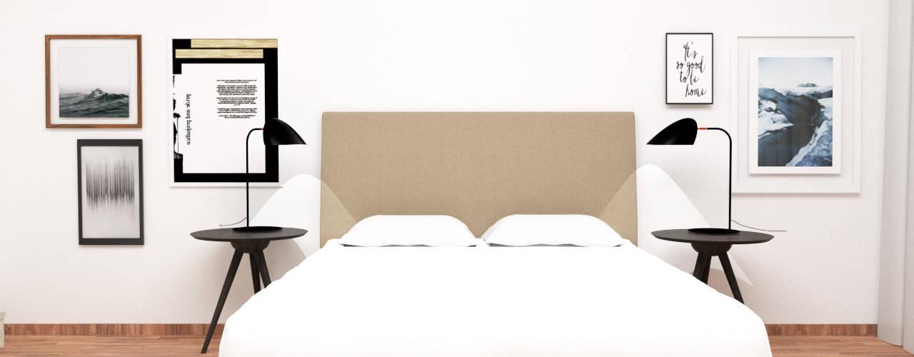 A parede da cama:   por IAM Interiores