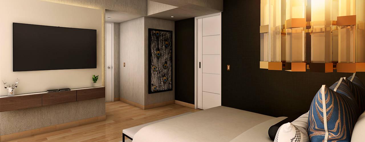 Proyecto WA: Dormitorios de estilo  por Luis Escobar Interiorismo, Moderno