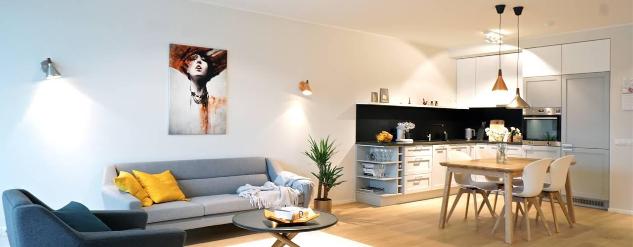 Baltic Design Shop 스칸디나비아 거실 우드 화이트
