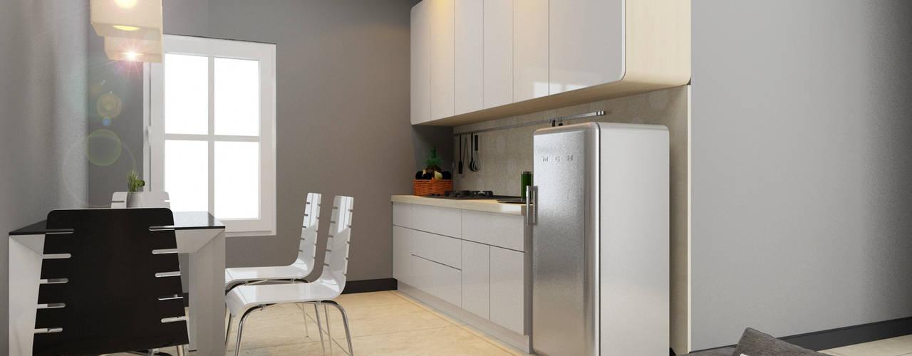 Apartment Aston Ancol Elora Desain Dapur Modern