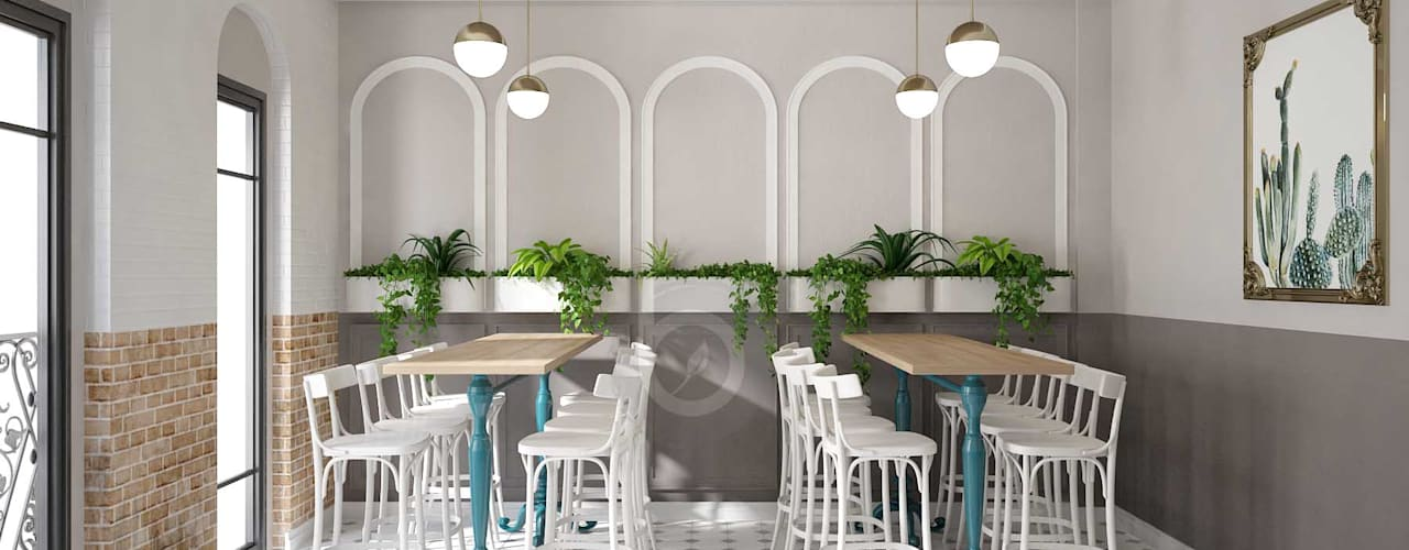 PR1810 MODERN MILK TEA SHOP/ BEL DECOR:   by Bel Decor