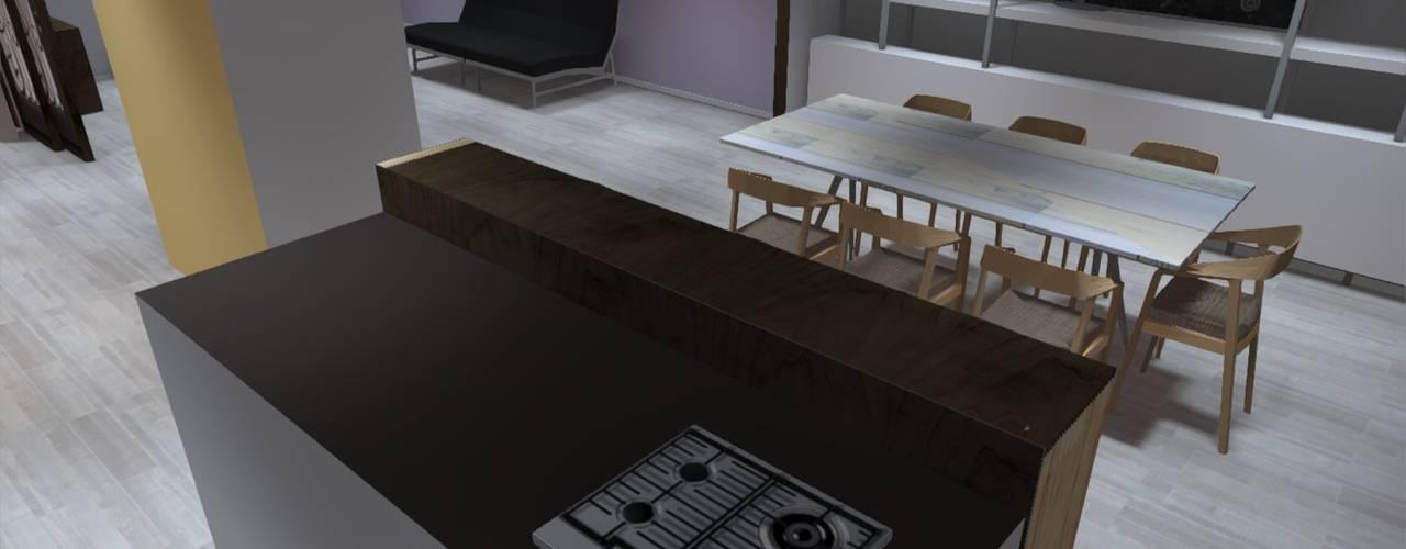 La identidad de tu Hogar Cocinas de estilo minimalista de ATELIER3 Minimalista