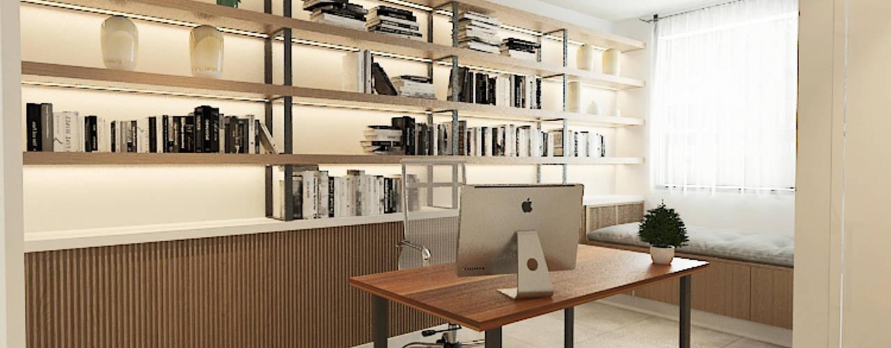Aurora Modern style study/office by Verde Design Lab Modern