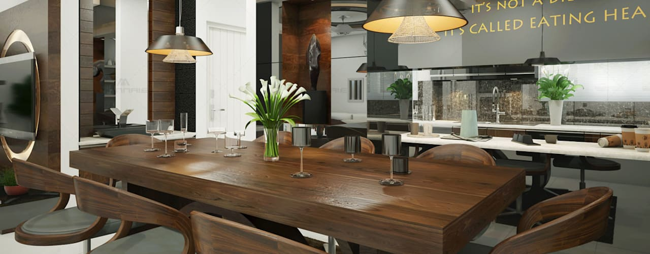 Monnaie Interiors Pvt Ltd KitchenTables & chairs
