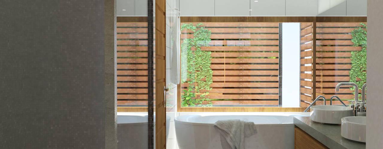 Casa Guardia Vieja Baños de estilo moderno de EnVoga Moderno