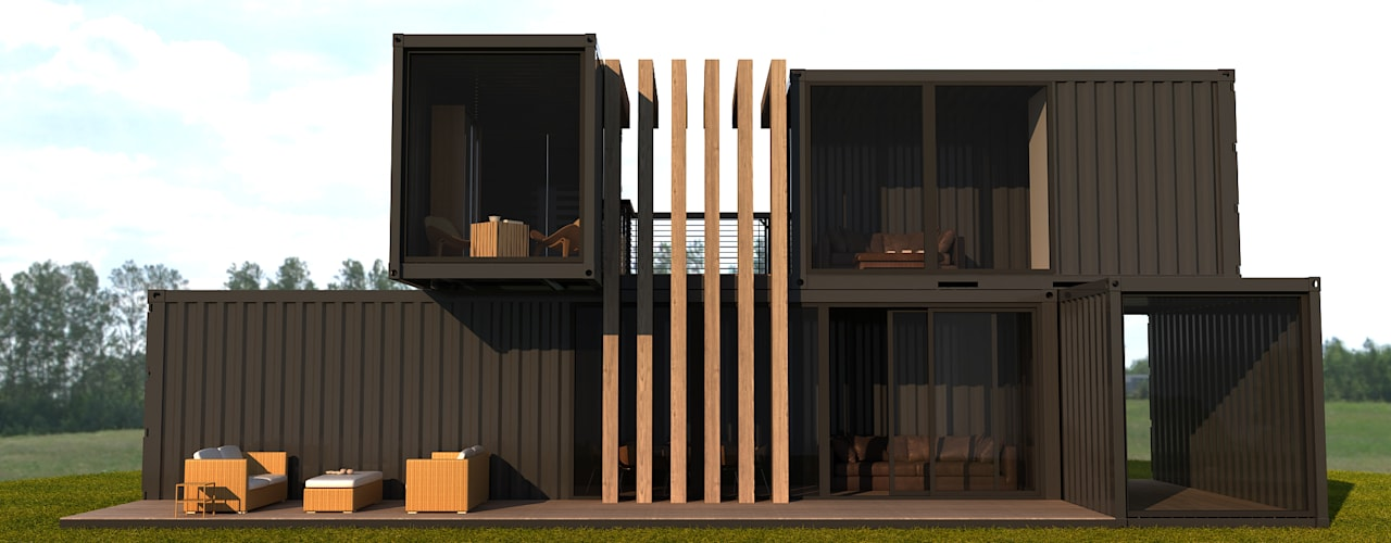 Prefabricated home by Next Container, Modern