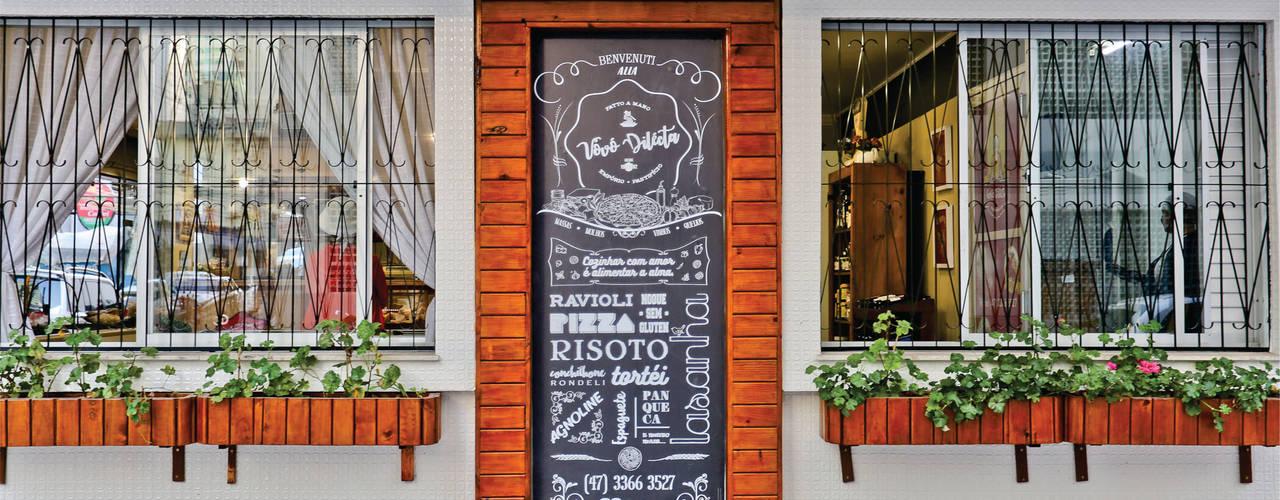 Empório e Pastifício Vovó Dilecta Cor3D Projetos de Interiores Espaços gastronômicos coloniais Madeira Efeito de madeira