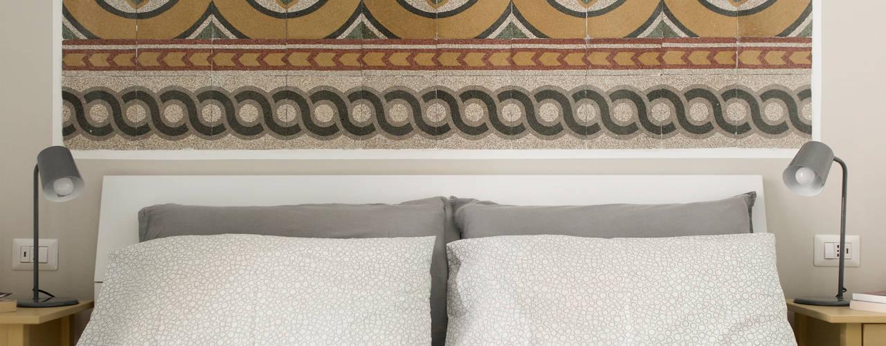 Roma Appartamento Piazza Vittorio 02A Studio Camera da letto eclettica Marmo Bianco