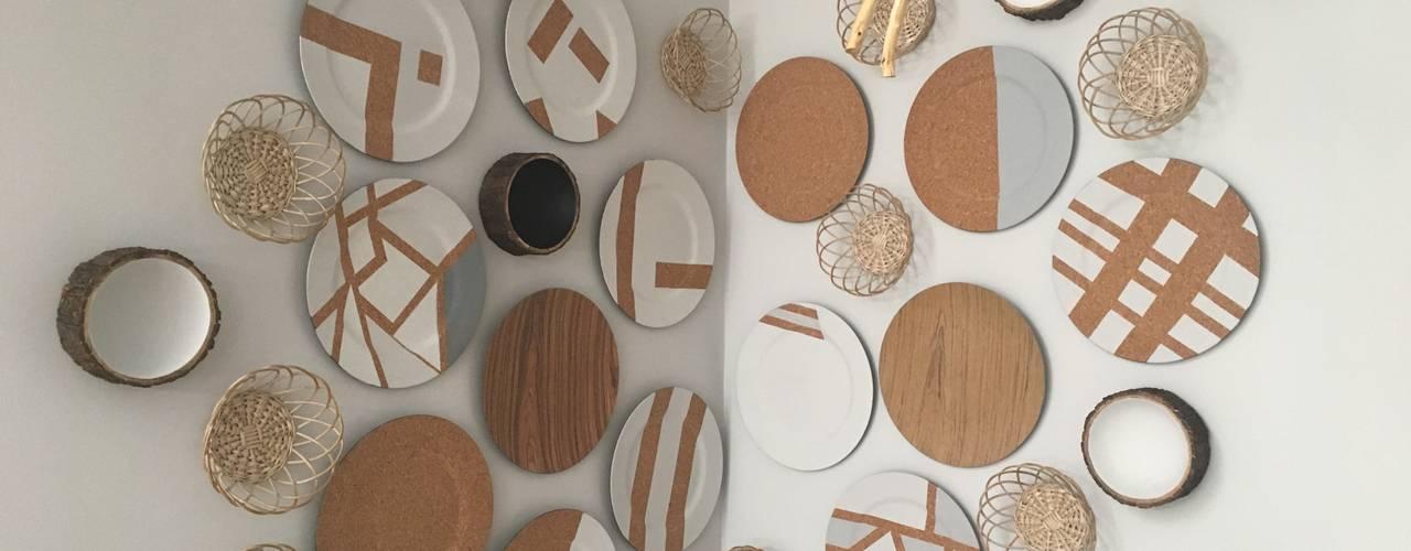 Decoração - restaurante Inês Florindo Lopes Sala de jantarAcessórios e decoração Compósito de madeira e plástico Acabamento em madeira