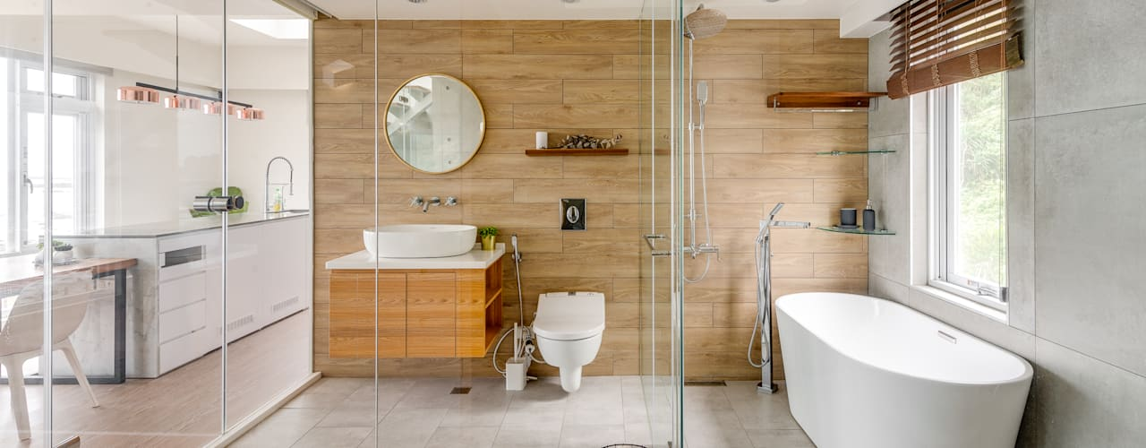 Minimalist bathroom by 御見設計企業有限公司 Minimalist