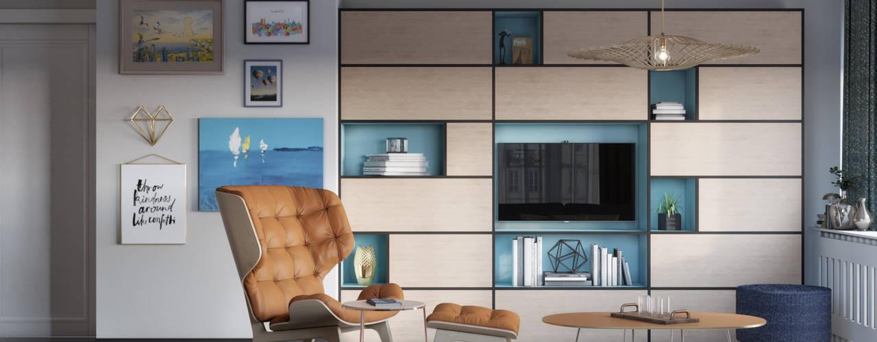 Elegant living area:  de estilo  de Isabel Gomez Interiors