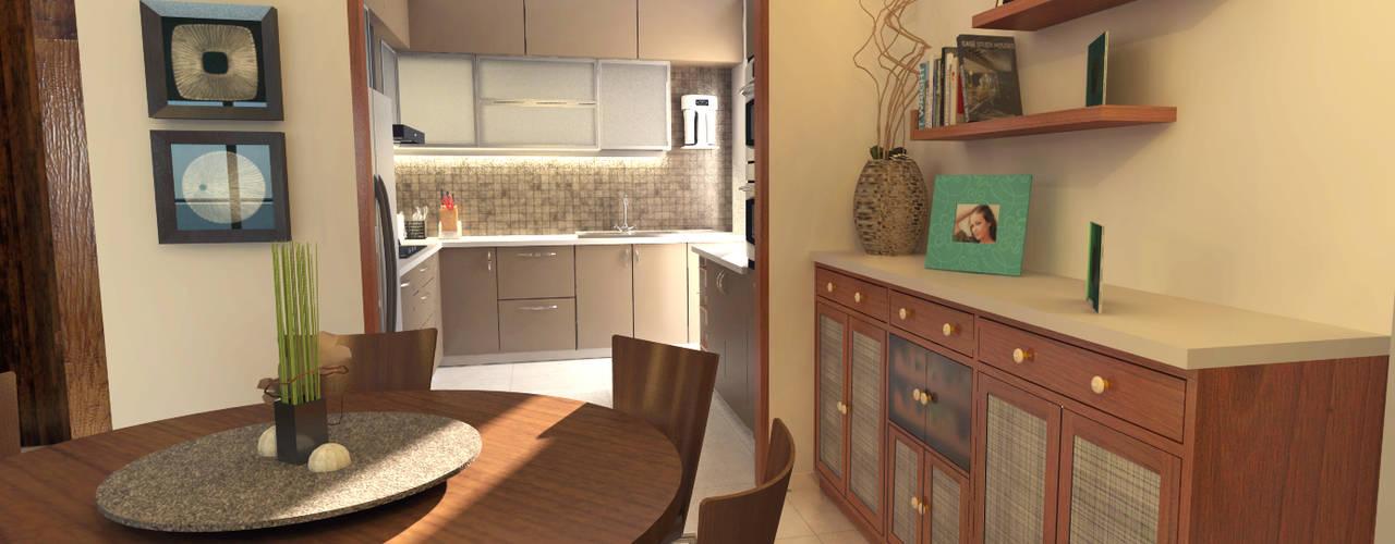 The Five Summits Apartment Modern dining room by Sandarbh Design Studio Modern