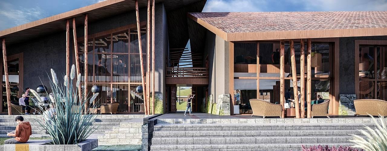 Restaurant Yucay de FRANCO CACERES / Arquitectos & Asociados Rústico