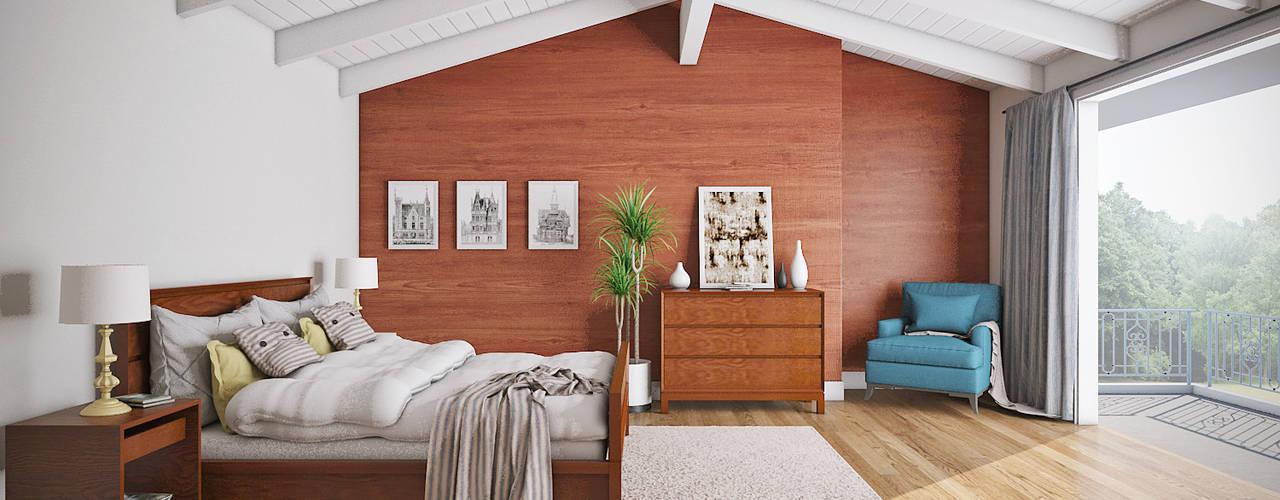 interior Kamar Tidur Modern Oleh casadellastudio Modern
