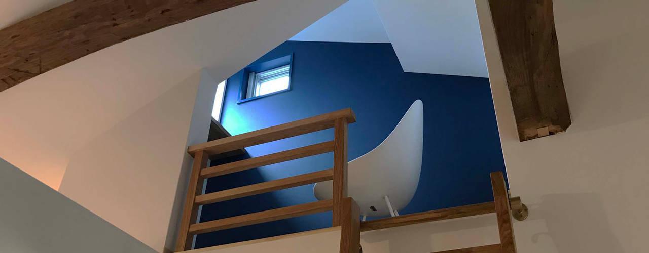碧の家 〈renovation〉– 100年を紡ぐ物語 – 北欧デザインの 書斎 の atelier m 北欧