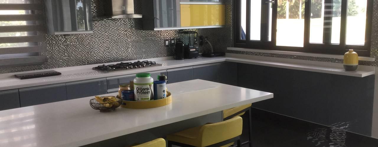 K+A COCINAS Y ACABADOS DE MONTERREY SA DE CV Cocinas equipadas Vidrio Gris