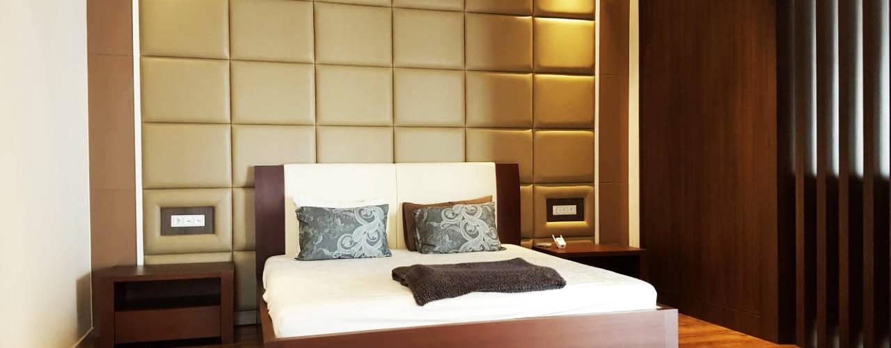 Likha Interior Modern style bedroom Plywood Brown