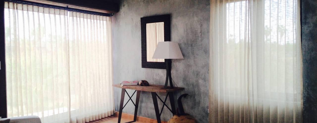 Casa en Todos Santos Cortinas y Tapices Vanessa Persianas Beige