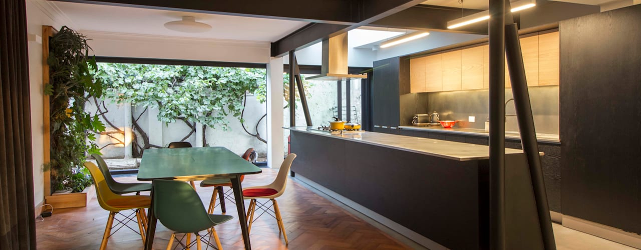 Casa El Bosque Comedores de estilo minimalista de Crescente Böhme Arquitectos Minimalista