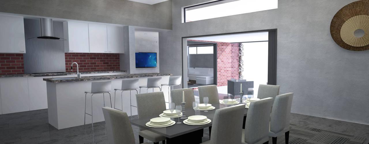 House De Souza A4AC Architects Kitchen units Granite Multicolored