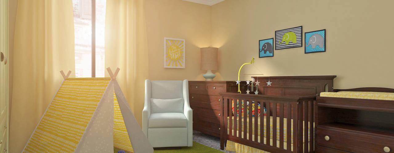 ¿Necesitas ayuda con la habitación de tu bebé? Dormitorios infantiles de estilo clásico de Glancing EYE - Asesoramiento y decoración en diseños 3D Clásico