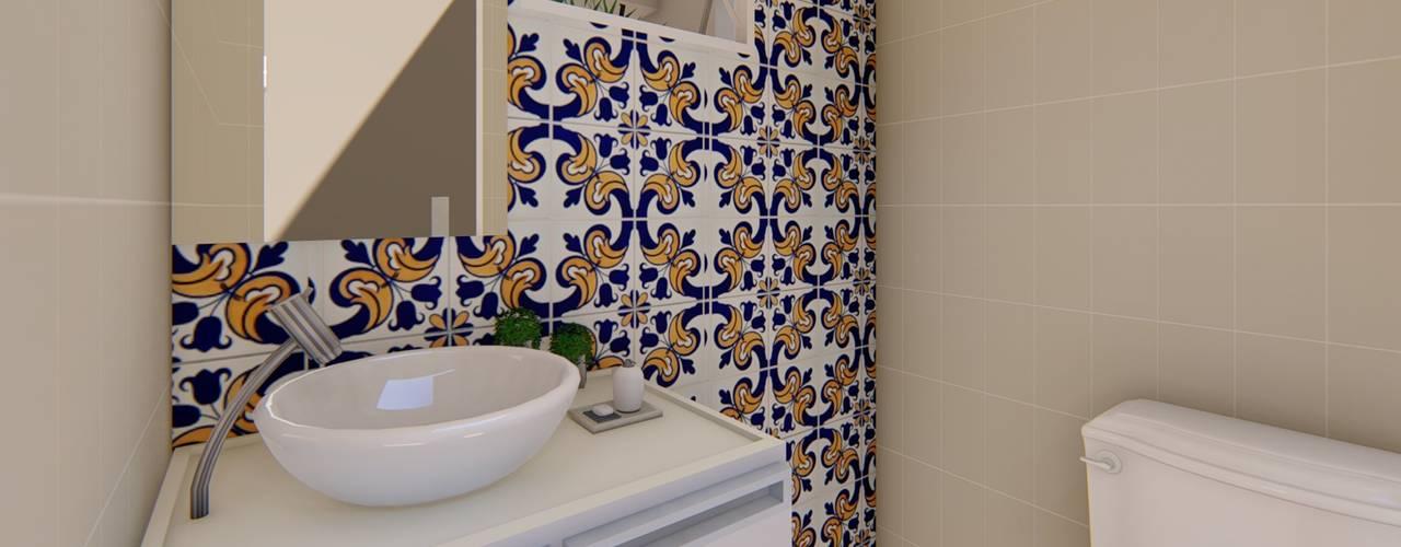 Área Gourmet Planejada Banheiros clássicos por Fark Arquitetura e Design Clássico