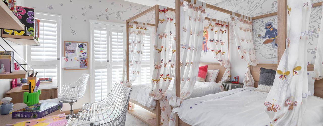 Contemporary Residential Family Home Deborah Garth Interior Design International (Pty)Ltd Small bedroom Wood White