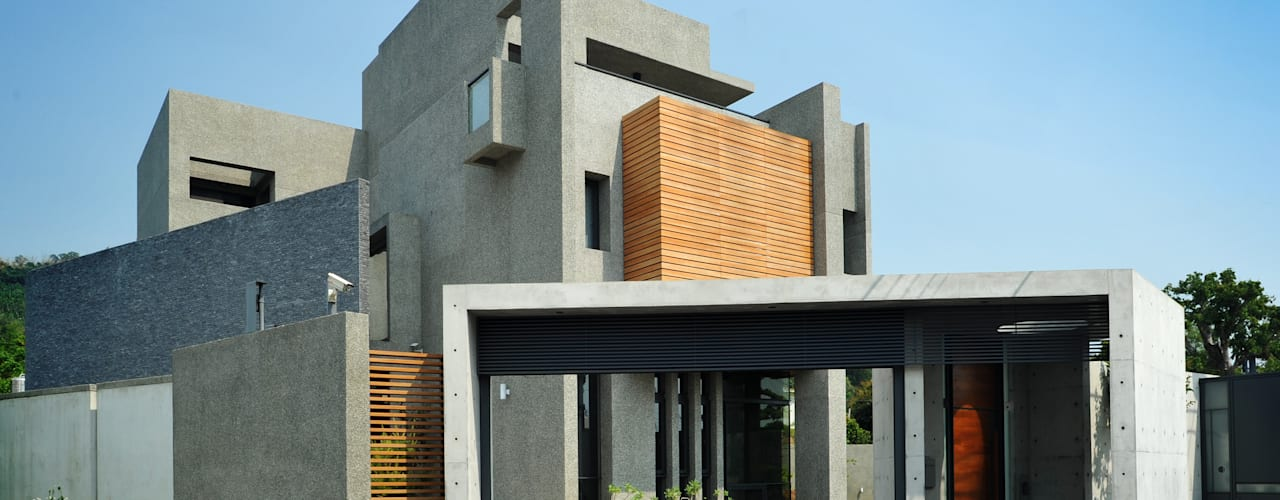 Villa oleh 黃耀德建築師事務所  Adermark Design Studio, Minimalis