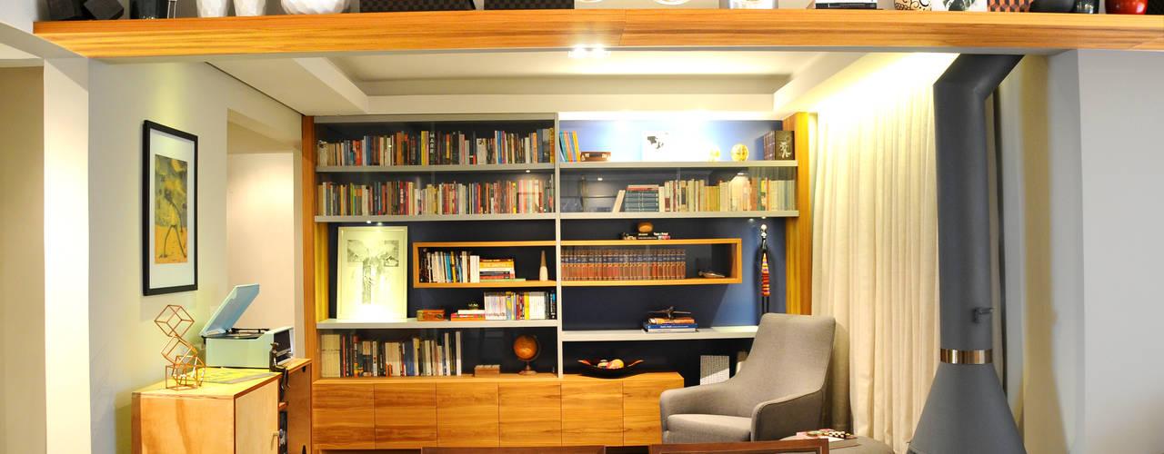 MARIA FERNANDA PEREIRA Modern style study/office Solid Wood Blue
