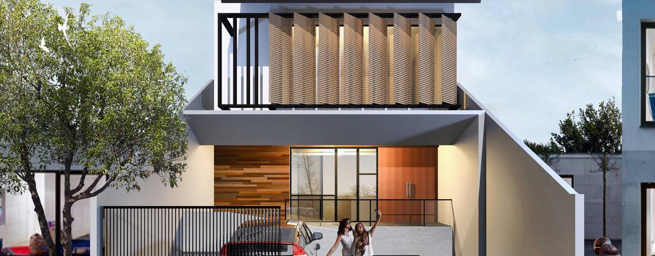 Projekty,  Dom jednorodzinny zaprojektowane przez Atelier BAOU+,