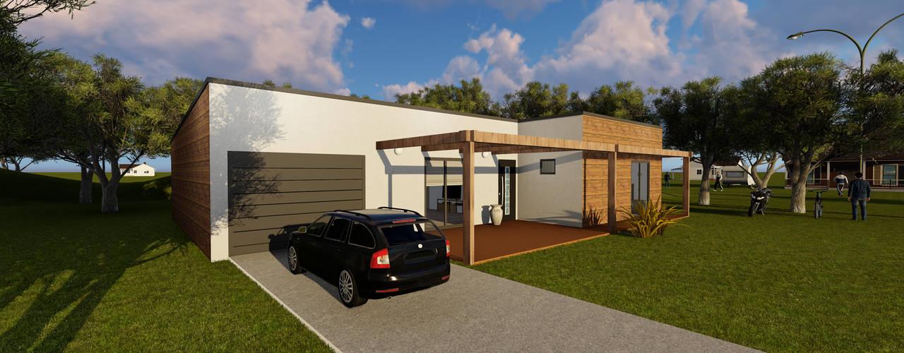 Modelo | T3 169m² por Discovercasa | Casas de Madeira & Modulares Moderno