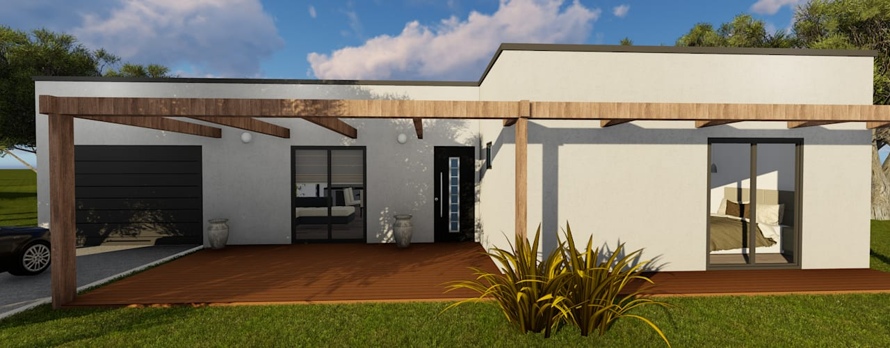 Discovercasa | Casas de Madeira & Modulares Wooden houses Wood White